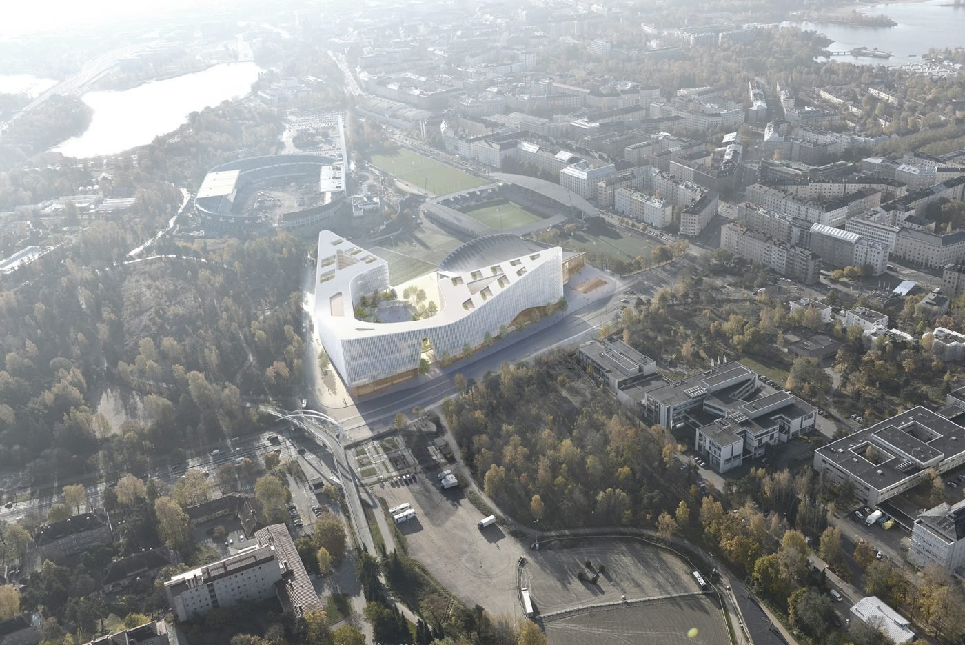 Garden Helsinki Mixed-use Arena Complex B & M Architects