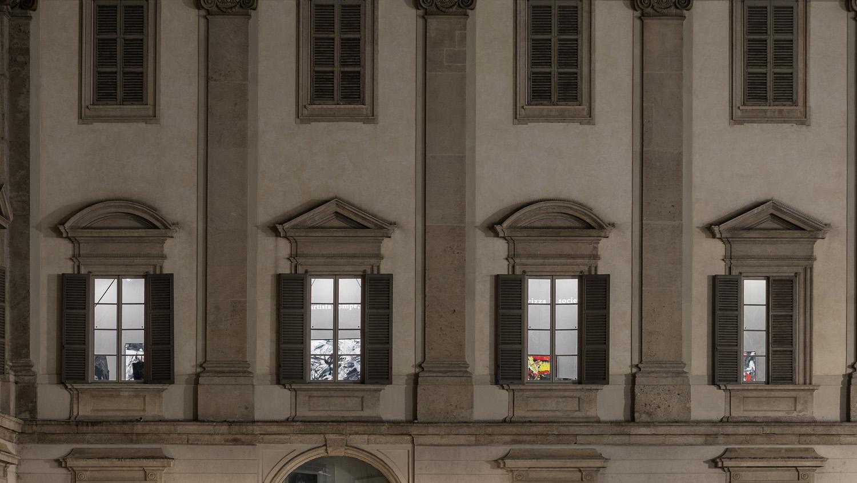 La Sala delle cariatidi vista dall'esterno Marco Cappelletti