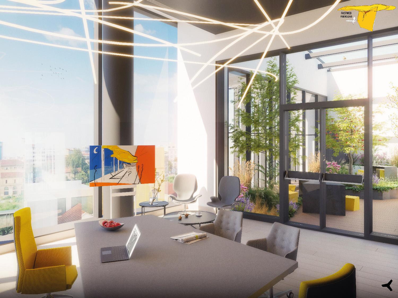 Vista di progetto - Ufficio AD con vista su patio Moreno Marrazzo}