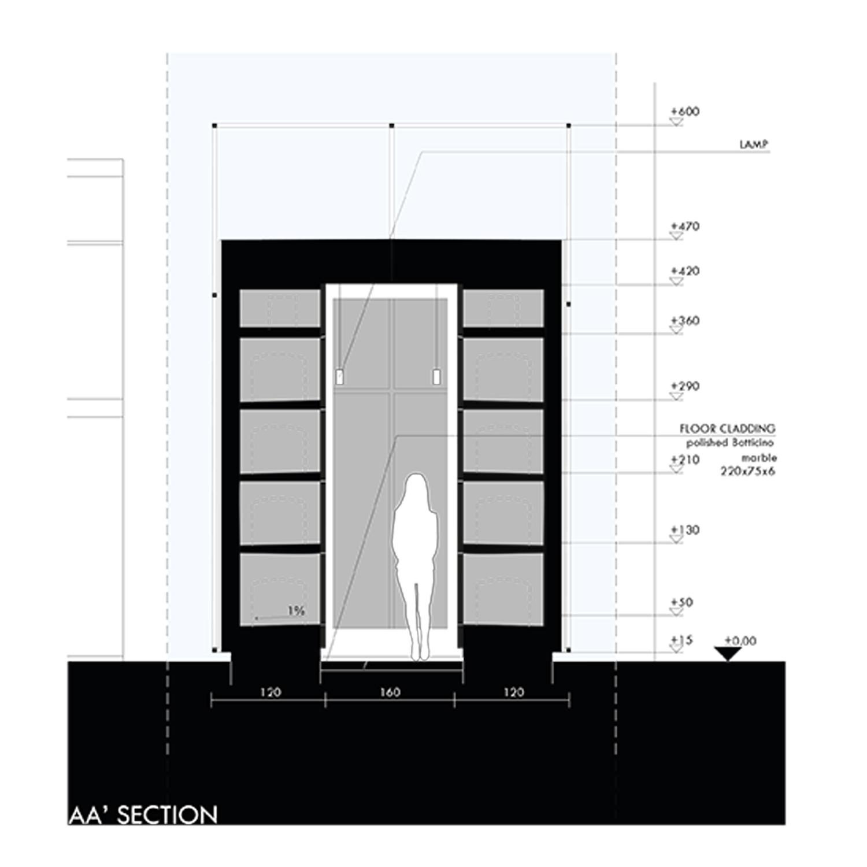 Section A-A Marco Bozzola Architetti}