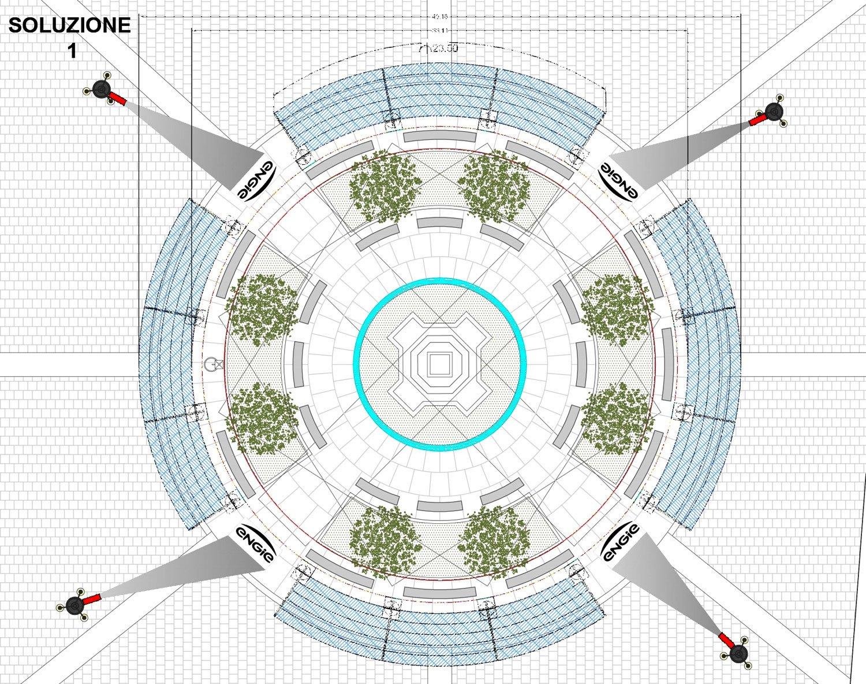 Sotto il soffitto della Scala - Soluzione progettuale vista dall'alto I-DEA S.R.L.}