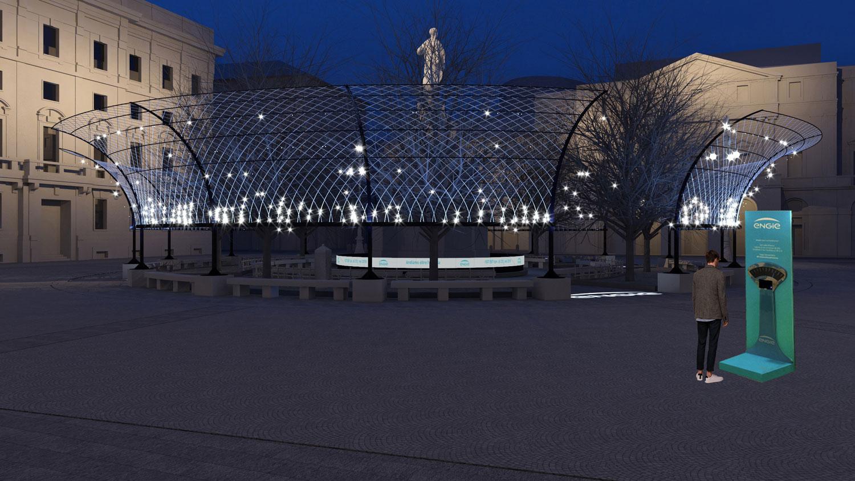 Sotto il soffitto della Scala - Render di progetto I-DEA S.R.L.}