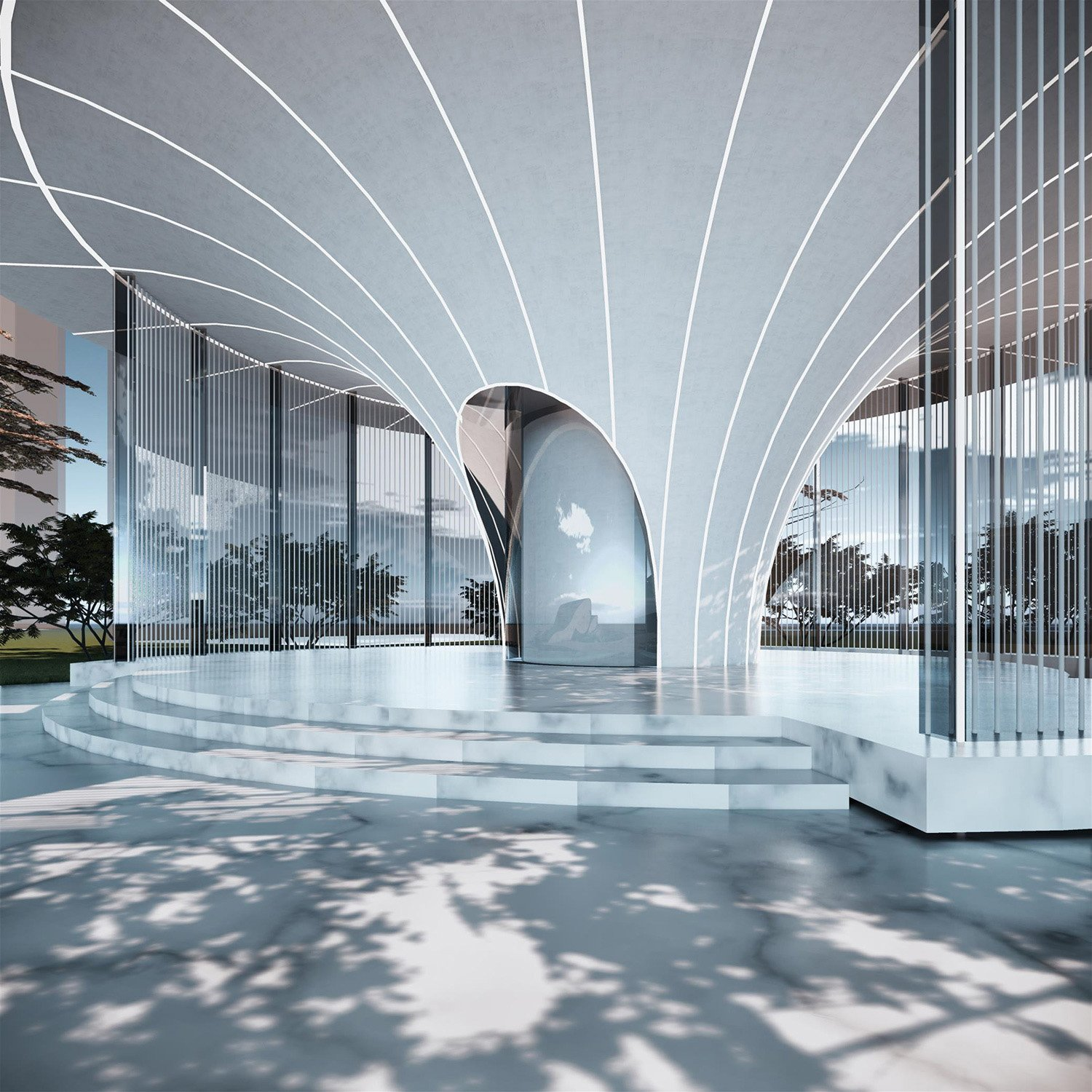 Jinke • Nature Emerald Exhibition Center Shanghai PTArchitects}