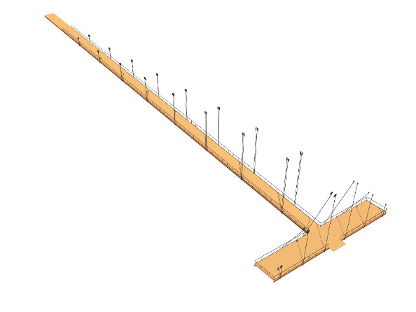 Diagram - Hanging ramp Wall Corporation/Selim Senin}