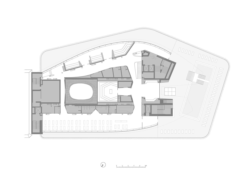 Floor plan, fifth level Berger+Parkkinen Architekten}