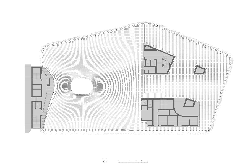 Ceiling structure swimming level Berger+Parkkinen Architekten}