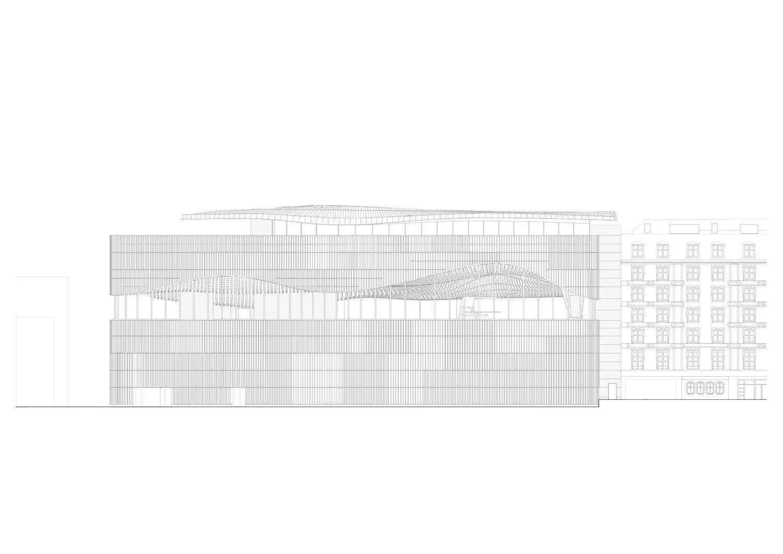 Southern facade Berger+Parkkinen Architekten}