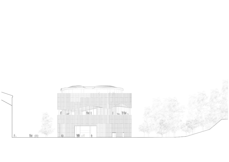 West facade Berger+Parkkinen Architekten}
