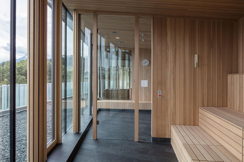 Saunas face the city with panoramic views Christian Richters │ Berger+Parkkinen Architekten