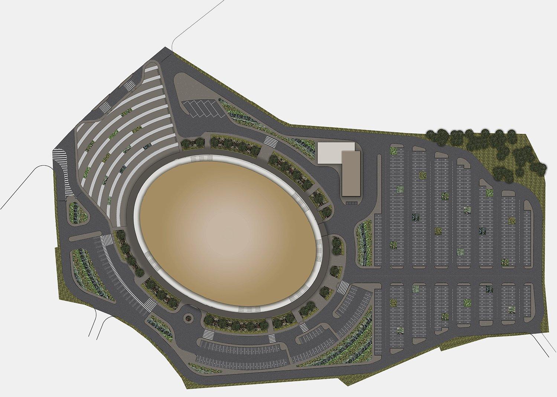 Kigali Arena site plan Yazgan Design Architecture}