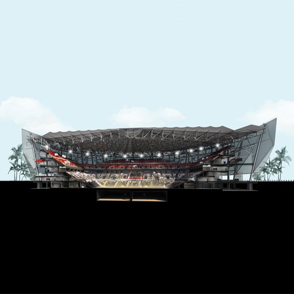 Studio Maac New Cairo Arena Made With Innovative Serge Ferrari Permeable Textile