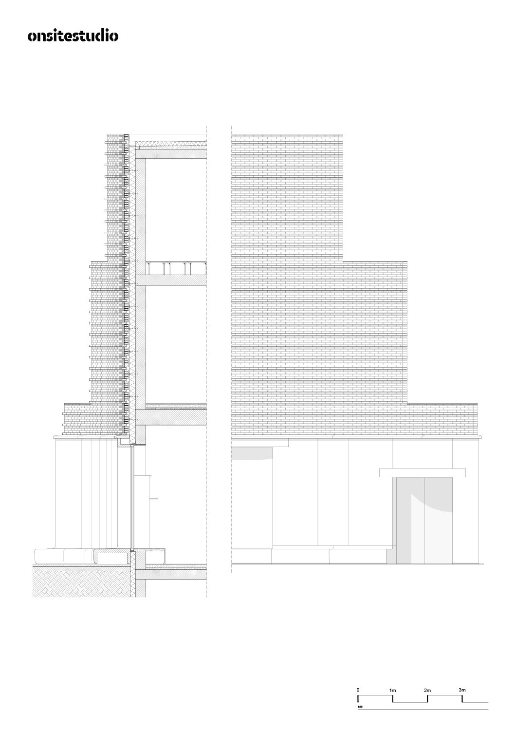 North facade detail section Onsitestudio}
