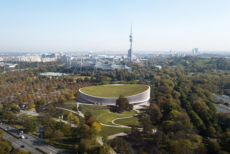 SAP Garden is a new sports arena located in the world-famous Munich Olympic Park with its historical buildings and its characteristically organic landscape. 3XN