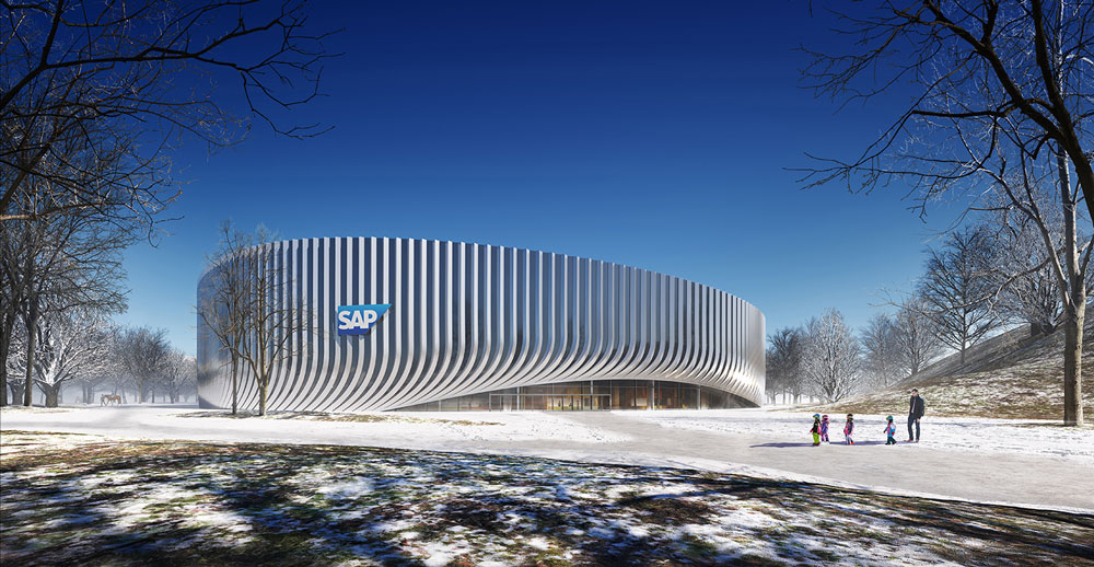 The manmade hill provides direct access to the arena and adds new public recreational areas to the park. 3XN