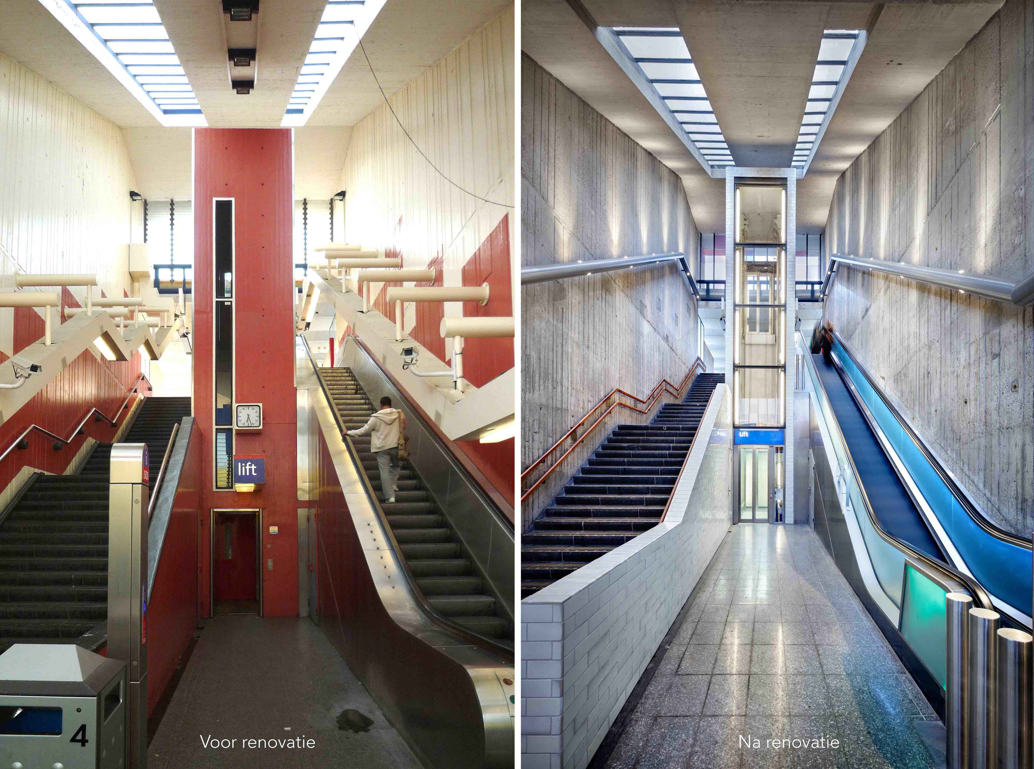 Holendrecht station before and after renovation GROUP A}