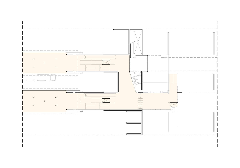 Floorplan Van der Madeweg after renovation with improved passenger flow GROUP A}