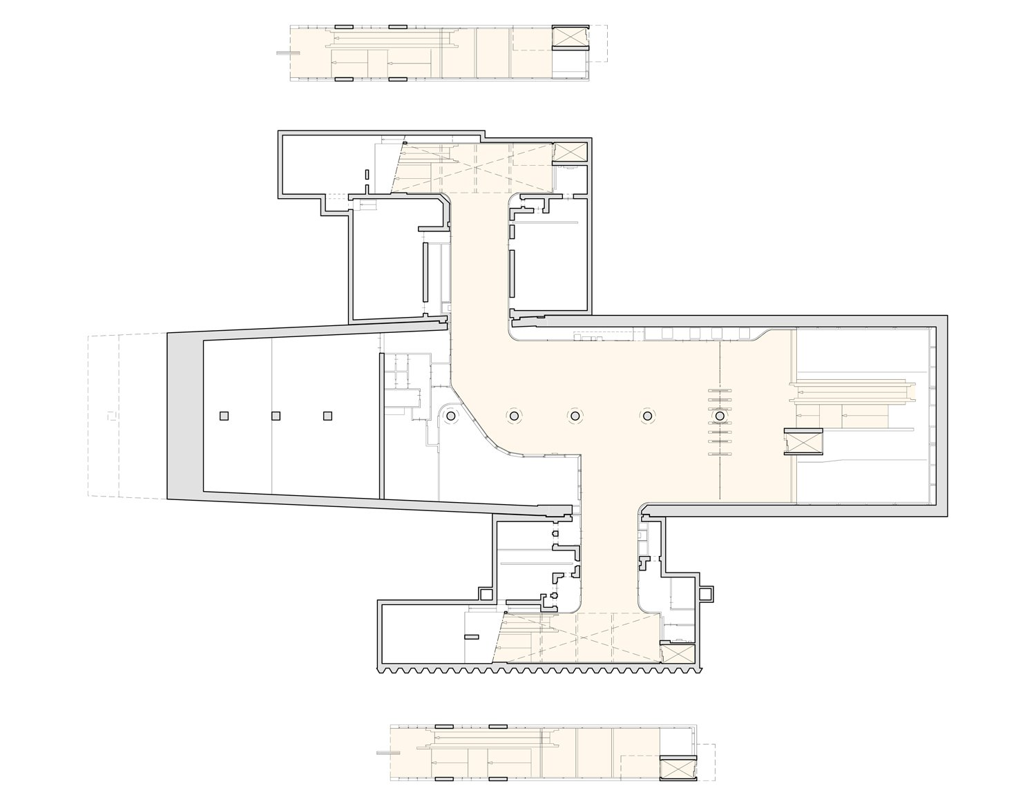 Floorplan Wibautstraat after renovation with improved passenger flow GROUP A}