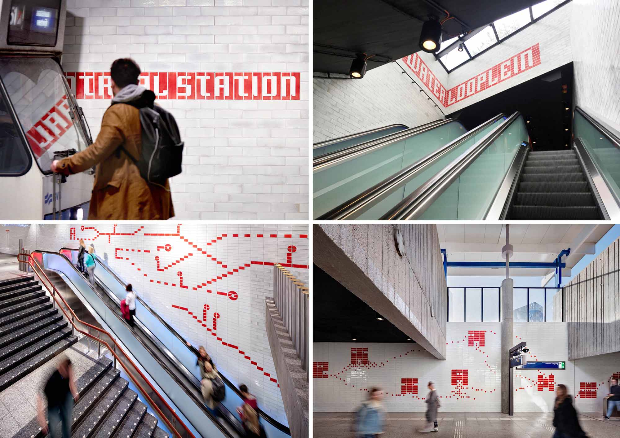 Station names and tile patterns strengthen the Oostlijn identity GROUP A}