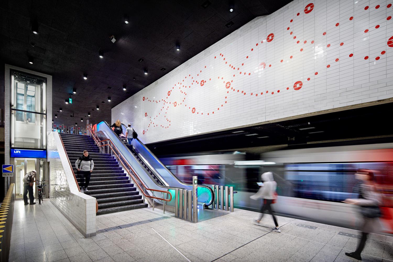 Station platform Waterlooplein DigiDaan
