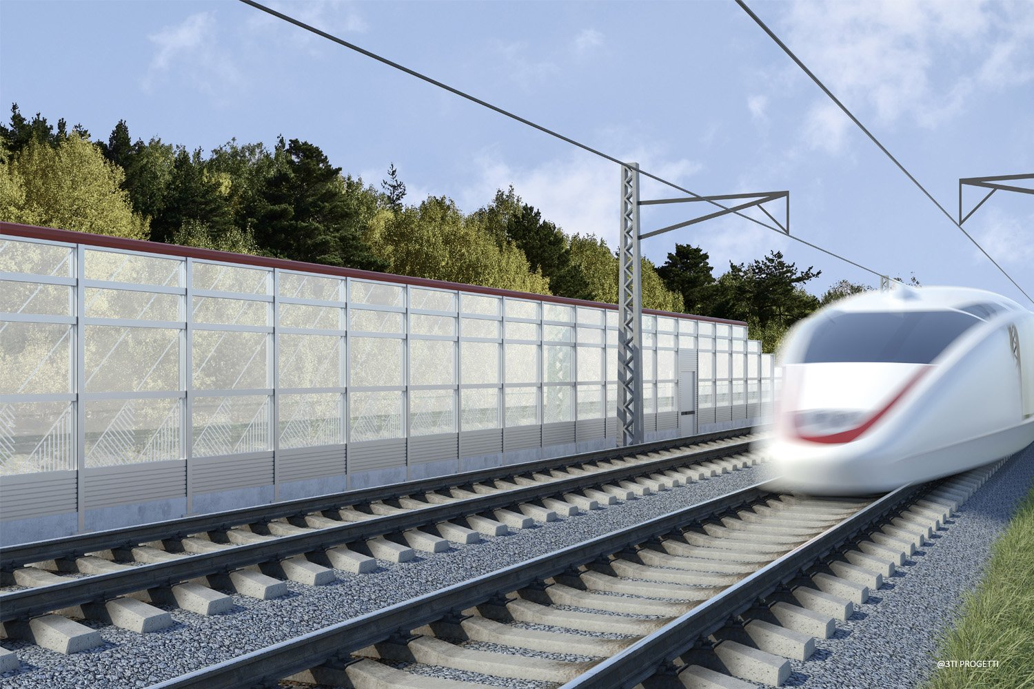 TRANSPARENT NOISE BARRIERS 3TI PROGETTI