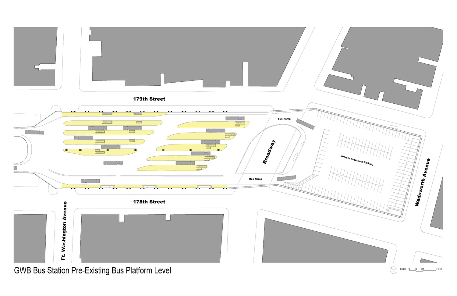 GWBBS Pre-Existing Bus Level Plan The Port Authority of New York and New Jersey}