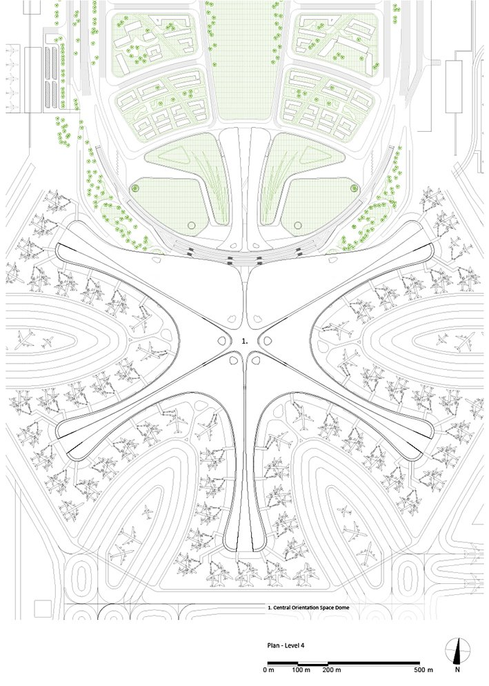 Roof Plan © Zaha Hadid Architects}