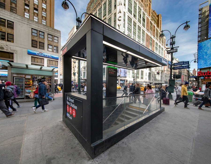 Even at one of the city's busiest stations, seen here at Penn Station, the clarity of expression and celebration of the unimark graphic system provide immediate upgrades to improving the passenger's journe David Sundberg