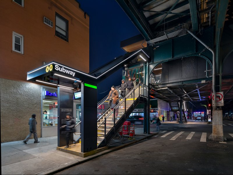 Improved lighting, extended platforms and custom designed furniture provide a heightened sense of security and a new level of comfort for waiting passengers. David Sundberg