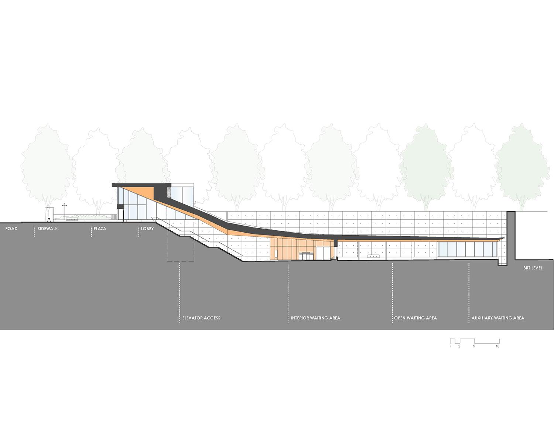 Mississauga Transitway_Section_Submerged Station IBI Group}