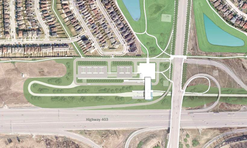 Mississauga Transitway_Green Pedestrian Corridor and Multi-use Trail System IBI Group}
