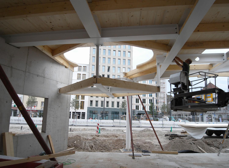 Building Site, Detail View (future Take Away Area at Train Stop) J.MayerH.}