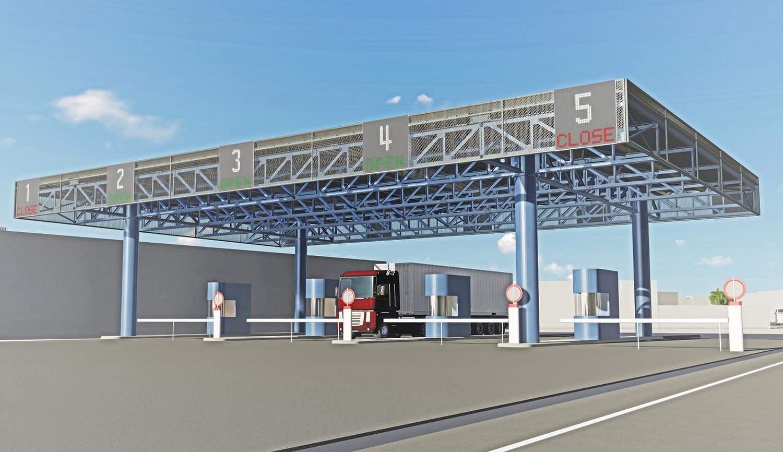 Gate ingresso LSCT Terminal EXA Engineering