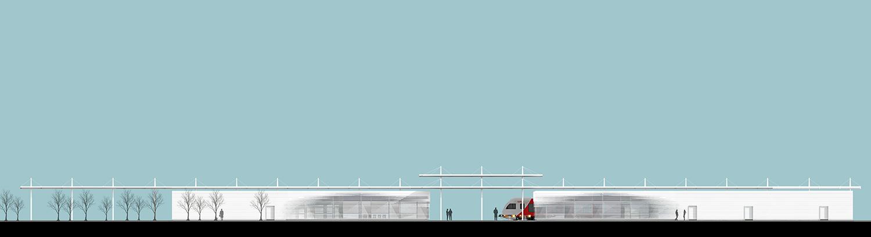 Stazione_Prospetto renderizzato EXA Engineering}