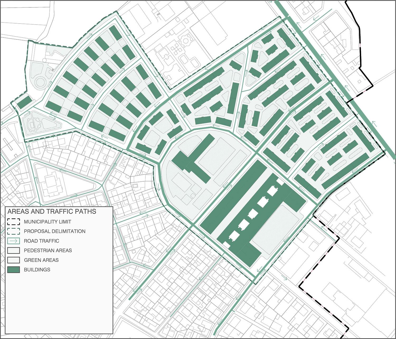 Areas and traffic paths Contextos de Arquitectura y Urbanismo}