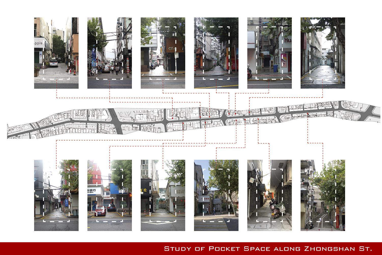 Study of pocket space along Zhongshan St Bau Studio}