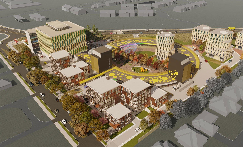 The Circle provides a new neighborhood center for the surrounding residential fabric. University of Arkansas Community Design Center