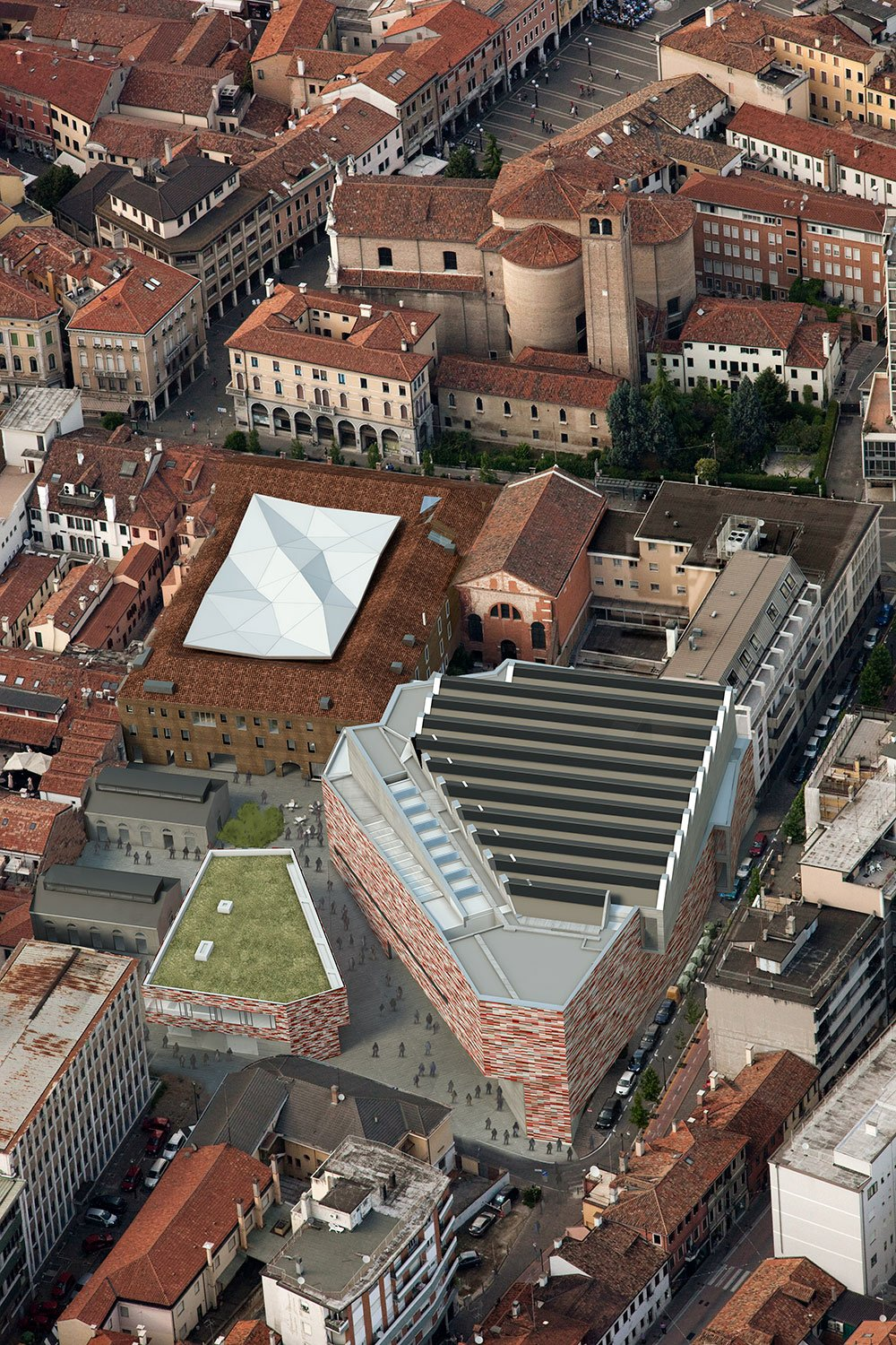 image of the new museum district from above Sauerbruch Hutton