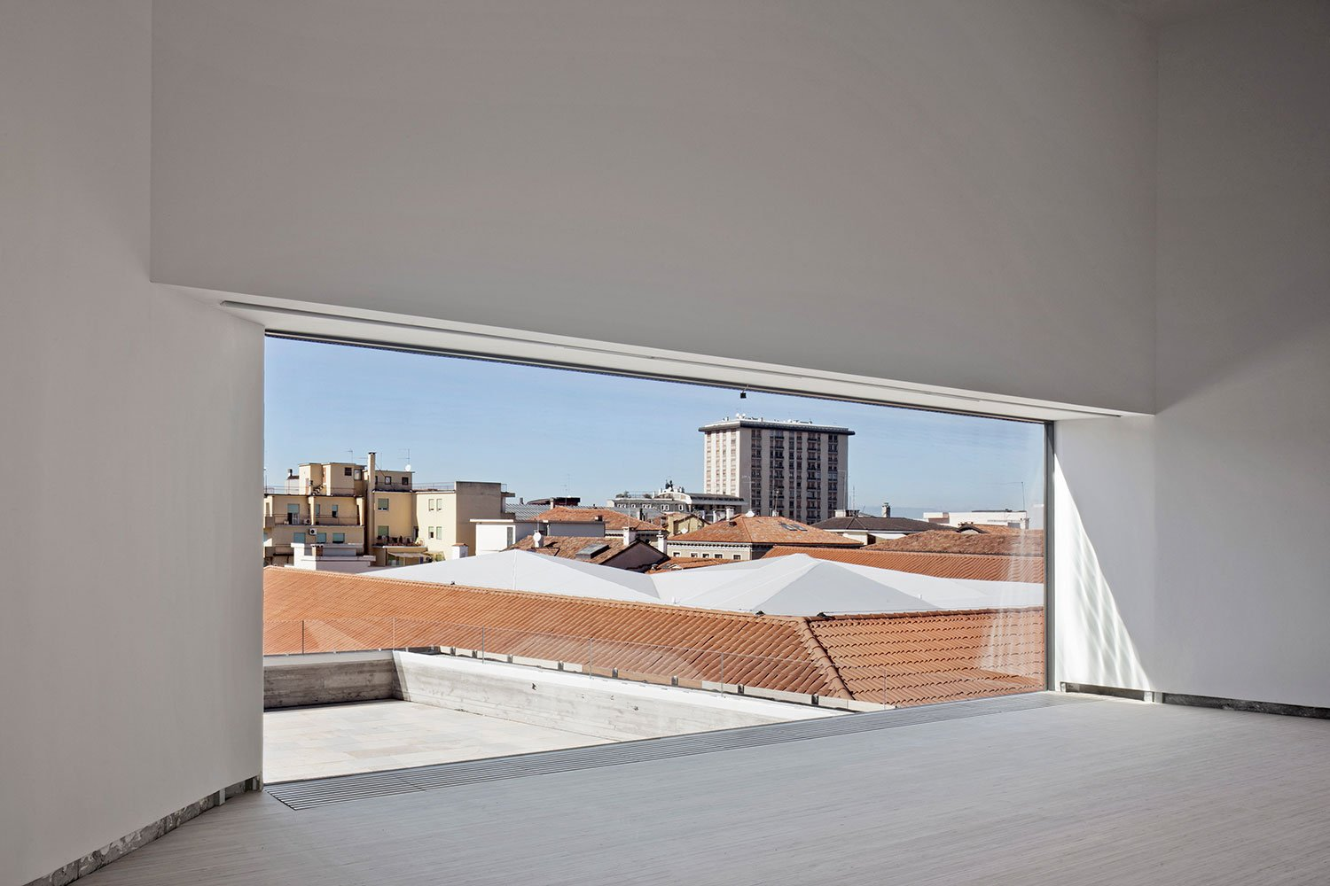 view over the city from exhibition space Alessandra Chemollo