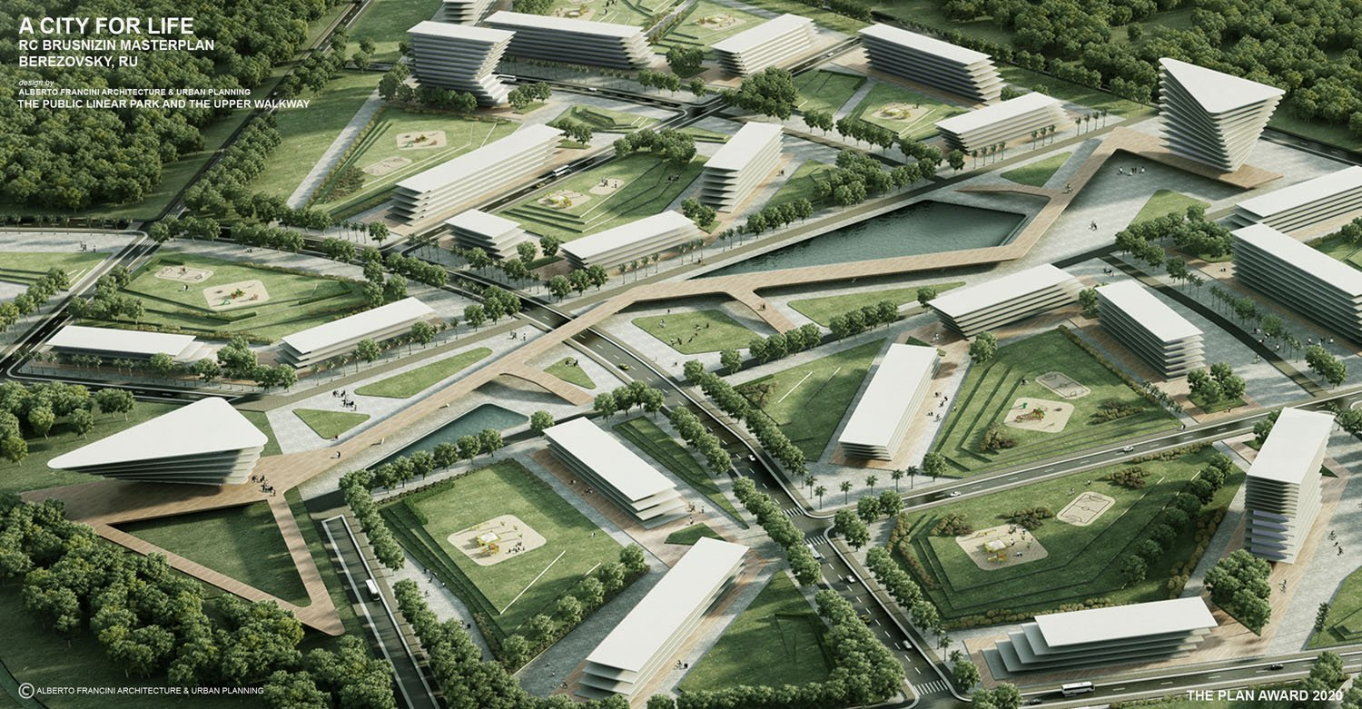 THE PUBLIC LINEAR PARK AND THE UPPER WALKWAY ALBERTO FRANCINI ARCHITECTURE & URBANPLANNING
