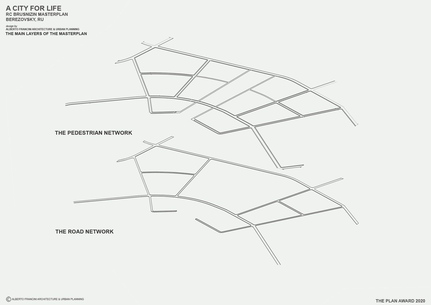 THE MAIN LAYER OF THE MASTERPLAN 1 ALBERTO FRANCINI ARCHITECTURE & URBANPLANNING}