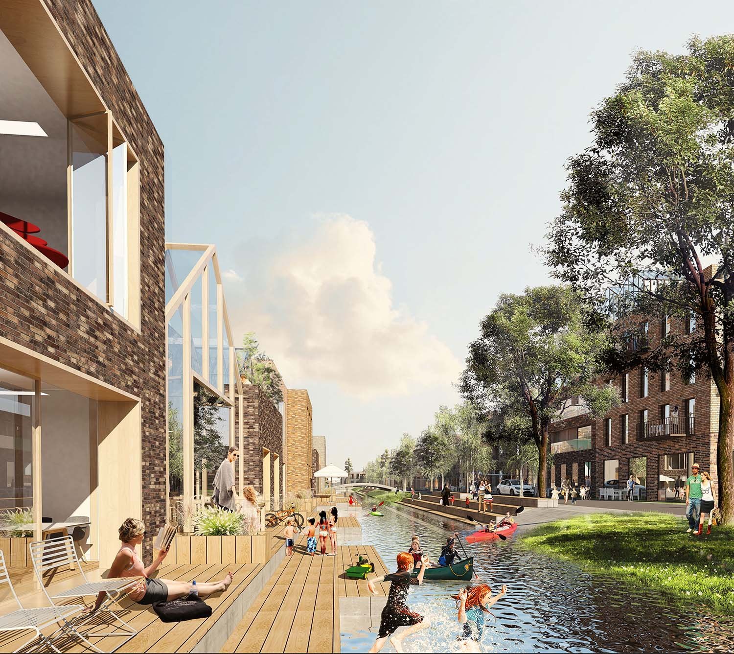 The Connected City - Canal Living © ADEPT KARRES+BRANDS
