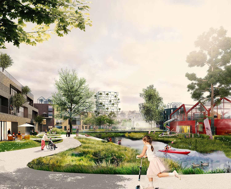 The Connected City - Green Loop © ADEPT KARRES+BRANDS