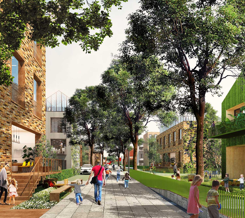 The Connected City - Green Neighbourhood © ADEPT KARRES+BRANDS