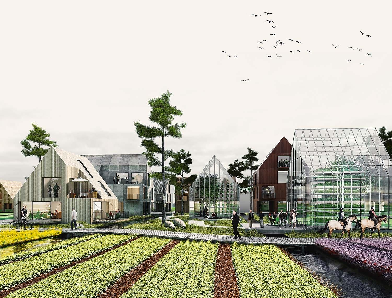 The Connected City - Eco Village © ADEPT KARRES+BRANDS