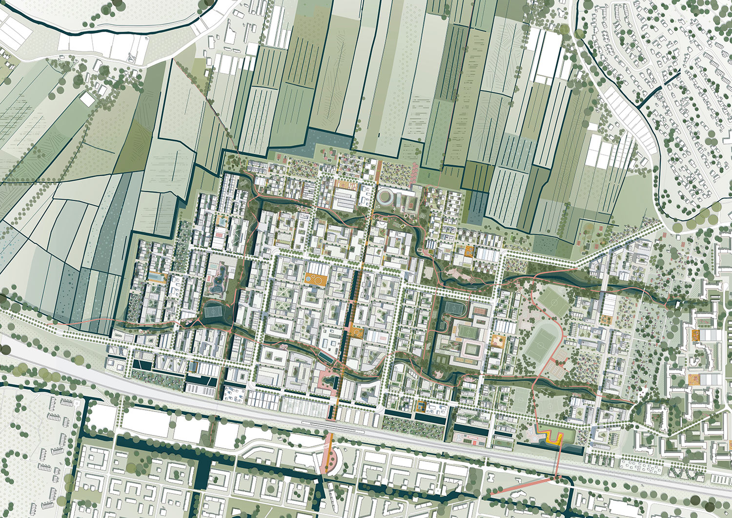 The Connected City - Masterplan 1-2000 © ADEPT KARRES+BRANDS}