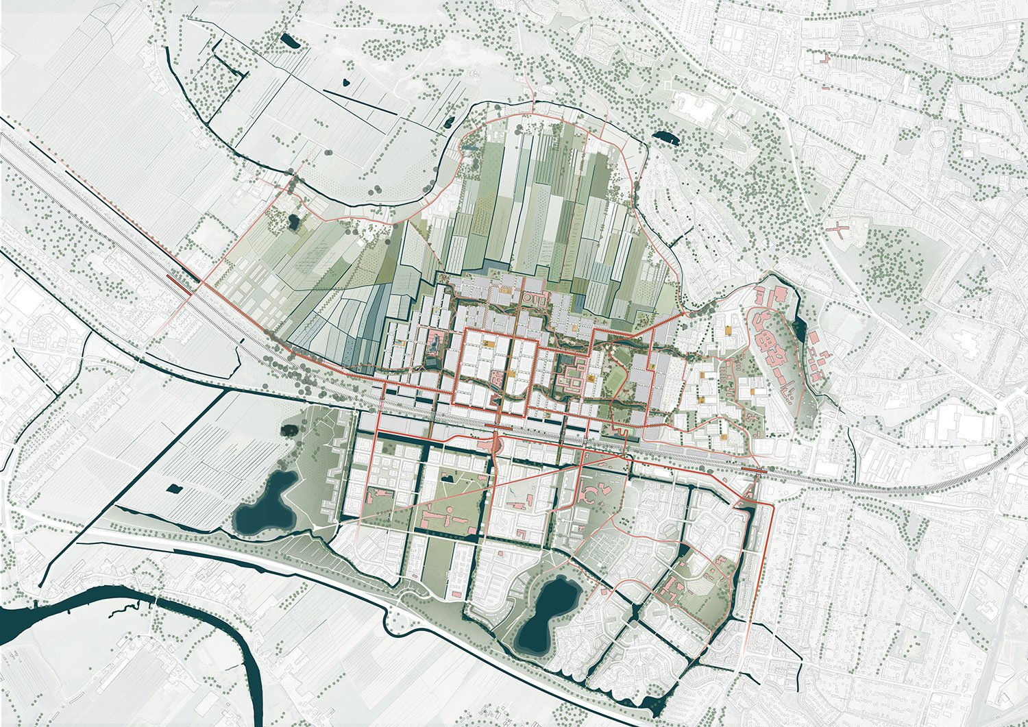 The Connected City - Masterplan 1-5000 © ADEPT KARRES+BRANDS}