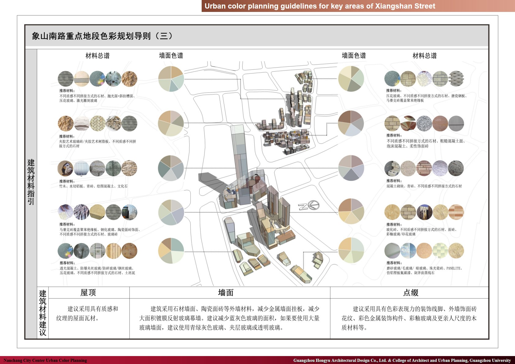xample of color design for key section of Xiangshan street-1 Guangzhou Hongyu Architectural Design Co., Ltd. & College of Architect and Urban Planning, Guangzhou University}