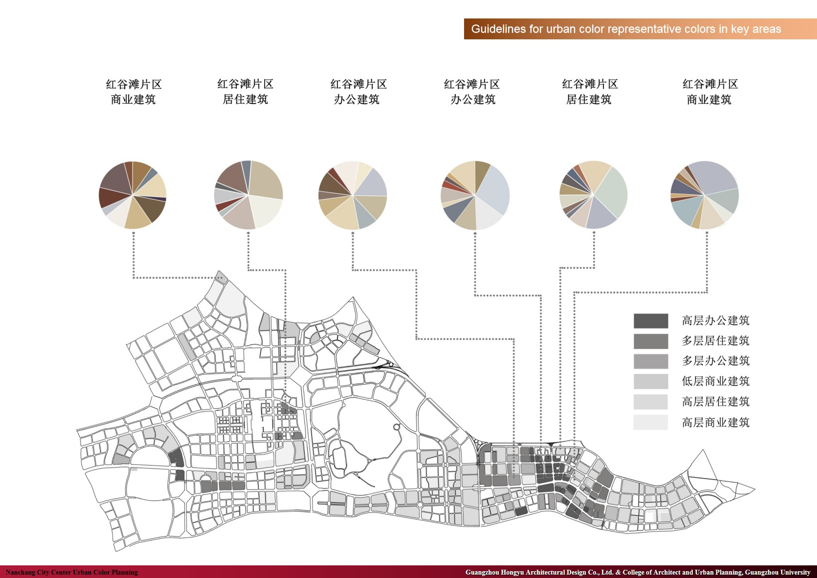 Guidelines for urban color representative colors in key areas Guangzhou Hongyu Architectural Design Co., Ltd. & College of Architect and Urban Planning, Guangzhou University