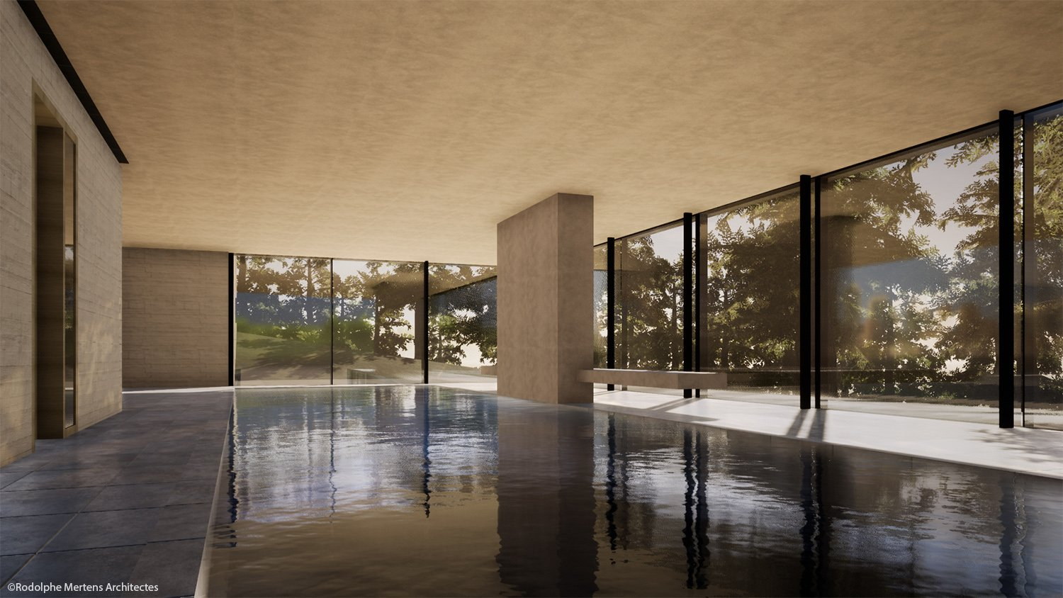 swimming pool Rodolphe Mertens Architects}