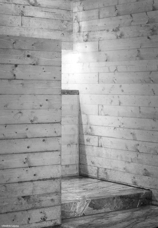 détail of bare concrete walls Andrés Lejona